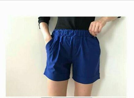 ♥️正韓萊卡口袋短褲  寶藍色