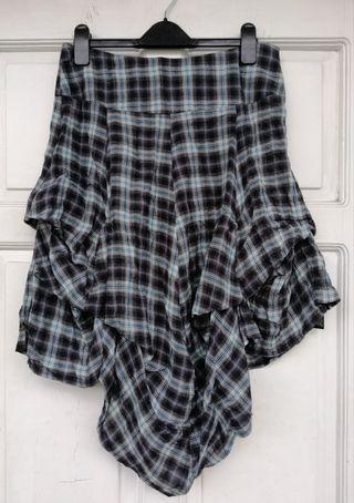 JOHN ROCHA Checkered Skirt