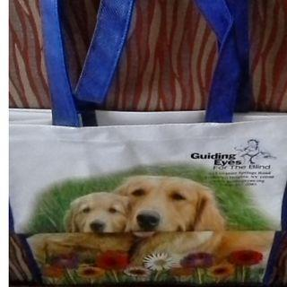 "BNIP Blind Reusable Tote Bag - A Bag for Dog Lovers, 12""x 13"" H x 7"" B"