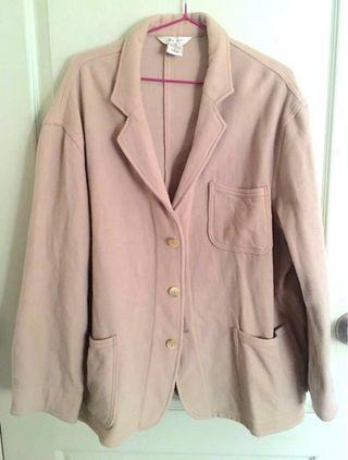 Oversized / Plus Size Wool Biege Jacket Outerwear