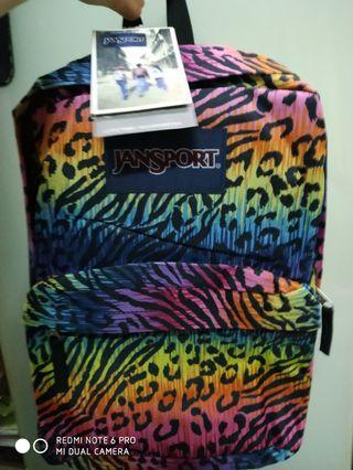全新Jansport彩色花紋豹紋返學書包背包上學雙肩包school bag backpack