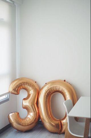 Big Size Birthday / Party / Wedding Rose Gold Balloon - Letter 0