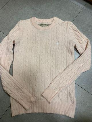 Jack Wills Pale Pink Lambwool Sweater