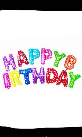 "Happy Birthday Balloons Kids Colourful 16"""