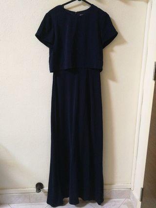 HVV navy blue maxi dress