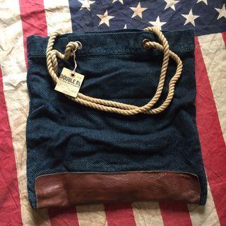RRL Ralph Lauren Leather Indigo Tote Bag not red wing lee levis converse omega rolex tudor