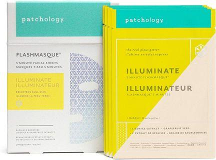 64折 Patchology Illuminate FlashMasque 5 Minute Sheet Mask 存亮透白面膜(4片)