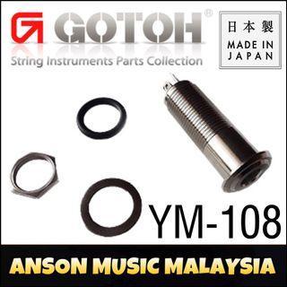 Gotoh YM-108 Stereo Straight Jack, Nickel