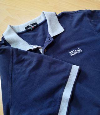 Emilio Valentino Navy Blue Polo Shirt