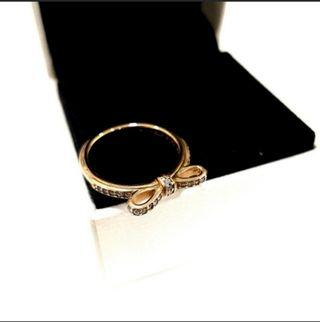 100% Authentic Pandora Rose Gold Bow Ring
