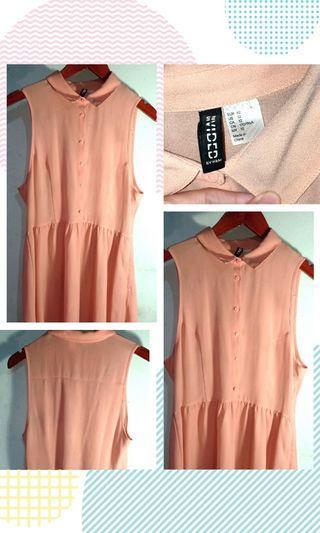 H&M Peach-Midi Bigsize Dress EU 42