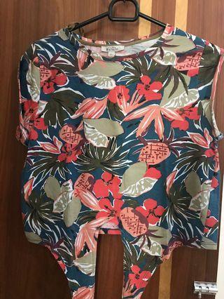 Zara Flower crop top