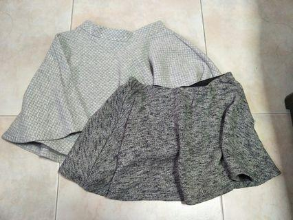 grey skirts