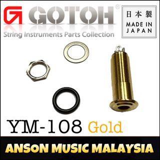 Gotoh YM-108 Stereo Straight Jack, Gold