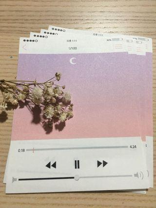 Night Sky Playlist Paper Note