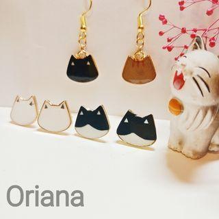 『Oriana』🐱貓咪耳環🐈📌1對價📌代改耳夾📌現貨秒出耳釘耳針耳環耳飾