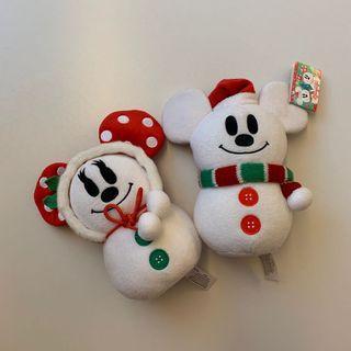 Hong Kong Disneyland Mickey & Minnie Xmas 米奇米妮聖誕雪人公仔