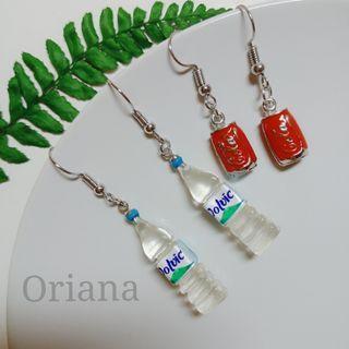 『Oriana』可愛仿真耳環♥📌1對價📌代改耳夾📌現貨秒出耳釘耳針耳環耳飾