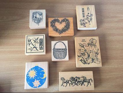 (Any 2 for $8) Assortment of big craft stamps