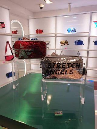《保證正品》韓國免稅店購入帶回韓國Stretch Angels 羅曼史亮片同款帕尼尼包
