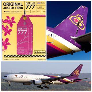 ✈️ 泰航Boeing777(HS-TJF)退役機身外殼鑰匙扣 / Thai Airways Boeing777 Aviationtag