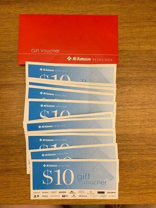 Al-Futtaim Retail Asia Gift Vouchers (aka Robinsons Vouchers) - $50 value