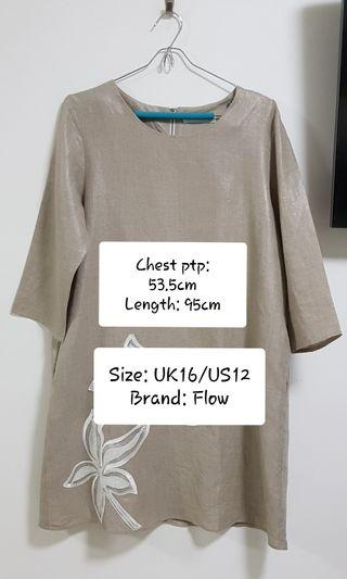 Plus Size Linen Long Tunic Top (PRELOVED)