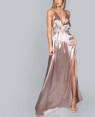 Low cut formal dress