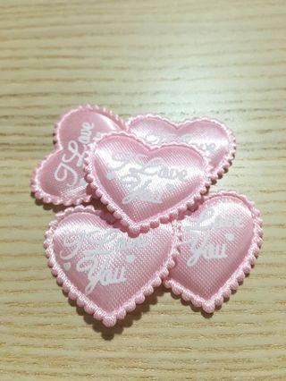 I Love You Pink Embellishments