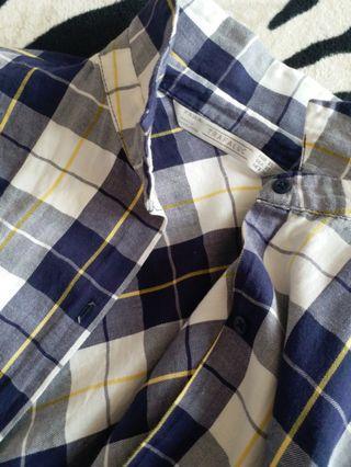 ZARA TRF checkered shirt
