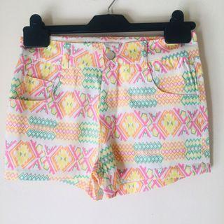 BNWT Neon Tribal Print Shorts
