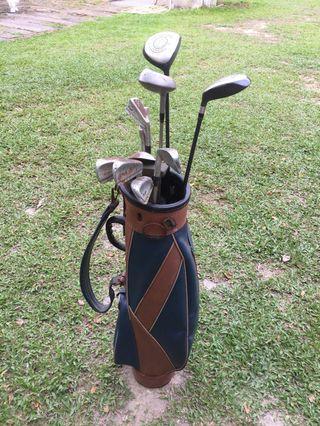 Set of Hogan & Polo Golf Clubs + Bag