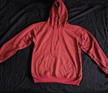 Sweater Hoodie Merah Bahan Tebal