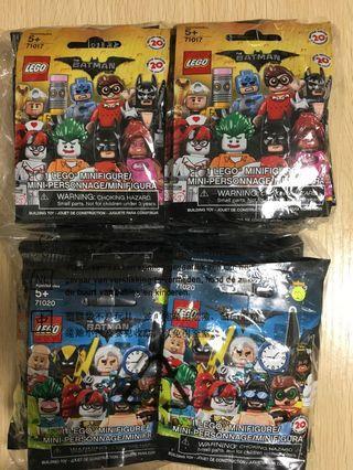 LEGO Minifigures 71017 and 71020 The Batman Movie