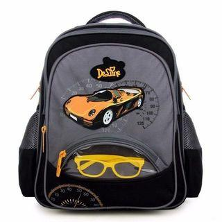 Delune School Kids Backpack with Glasses - Black