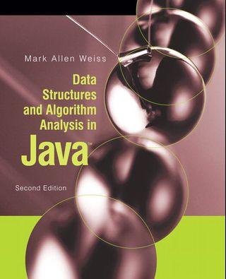 🚚 Data Structures and Algorithm Analysis in Java Mark Allen Weiss 2nd ed