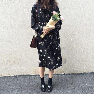 Long Sleeve Maxi Floral Dress