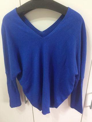 寶藍毛衣(超顯瘦)