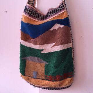 Vintage 80s ARUBA Handmade Wool Shoulder Bag not red wing converse nike adidas levis lee