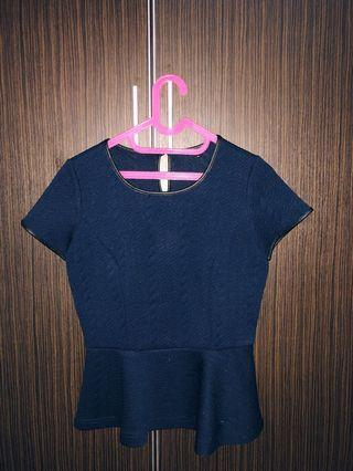 Dark Blue Top by The Executive