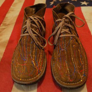 CAMPER Graffiti Leather Boot MADE IN MOROCCO not rrl red wing lee levis hanes omega