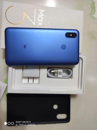 拆封一週小米max3 藍色4+64g台灣公司貨