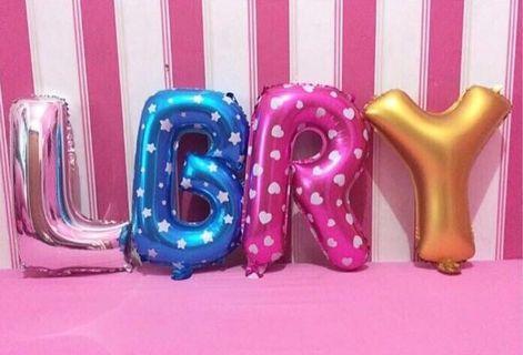 "balloon 16"" for birthday alphabet number"