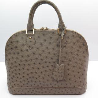 Louis Vuitton AlmaPM Gray Ostrich Bag M14181