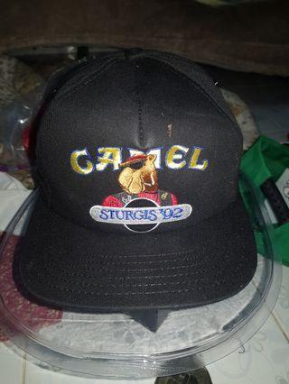 Deadstock Camel sturgis 92 original cap hats snapback with box