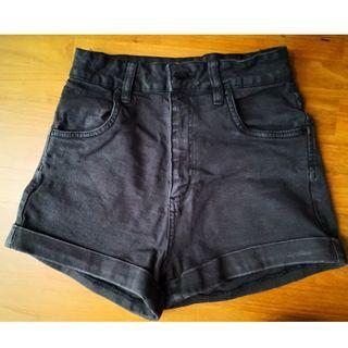 🚚 Cotton On High Waist Denim Shorts in Washed Black