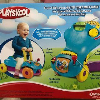 Push walker and ride merk playskool