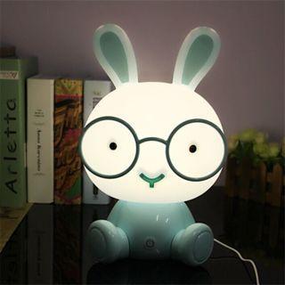 全新-萌兔爆發-立體眼鏡兔造型檯燈/夜燈..可調段位亮度