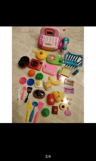 廚房玩具+收銀機玩具