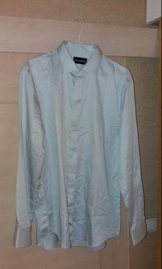 Armani Blue Mens fit Shirt Cotton business